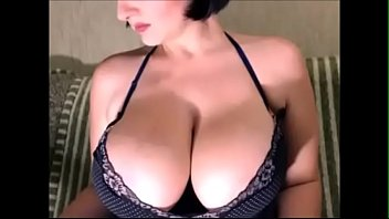 chesty dame with lactating hooter-sling-stuffers