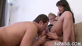 Bisexual trio pleasure