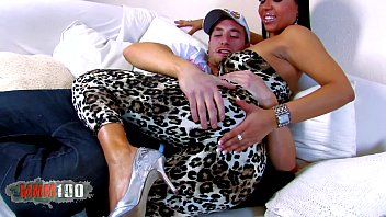 good-sized funbags latina breezy boned on couch and.