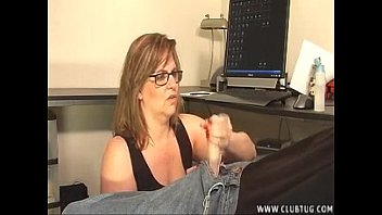 mature damsel takes care of a.