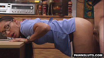 geeky honey getting penetrated stiff at the pawn supermarket