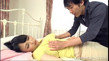 fat-chested japanese cougar satiates a man with a.