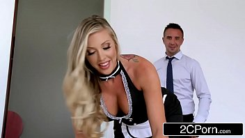 flawless maid samantha saint keeps the palace neat.