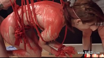 Extreme violently penetrated bdsm babe