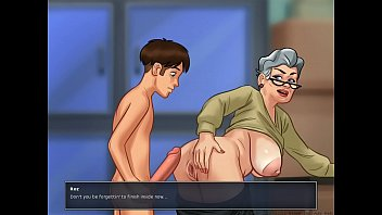 banging granny in doggystyle summer time.