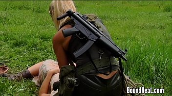Lesbian Huntress Caught Young Brunette In The Woods