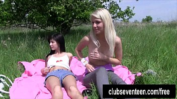 girl-girl nubiles milking outdoors