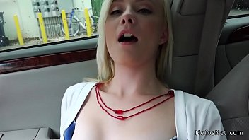 Teen hitchhiker fingered and fucked in car