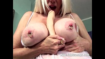 ash-blonde mature humungous pierced baps and.