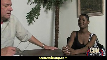 ebony mega-bitch used for oral jobs by a.