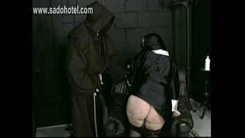sir priest pulls miniskirt up and underpants down.