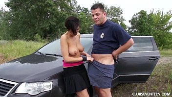 hefty breasted nubile gets plowed by a gigantic.