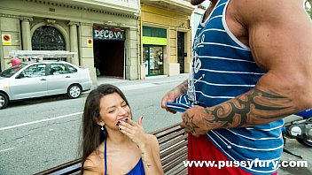 the youthful alicia poz deep throats in public.
