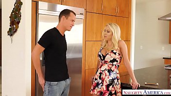 Big tits MILF Katie Morgan fucks a young big dick - Naughty America