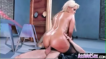 Deep Anal Hard Bang With Big Oiled Butt Horny Sluty Girl (Bridgette B) clip-15