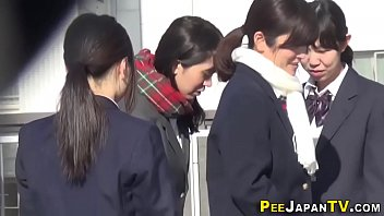 japan students urinating