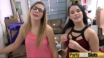 (kendra &amp_ megan) Real Slut Girls In Group Sex Party movie-23