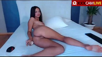 Hot babe brunette masturbate on webcam bigtits bigass