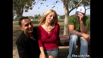 light-haired wifey bj's monstrous fellow-meat into her throat.