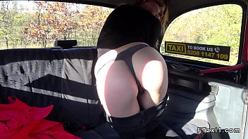 dark haired flashes bum in faux.