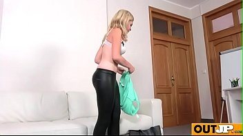New shy model gets a big facial(Lady Blond) 02 video-20