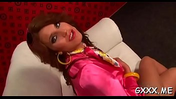 Beautiful lesbian engages in some hot kissing and sextoy play