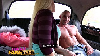 chick faux cab bodybuilder makes humungous-chested blond jizz.