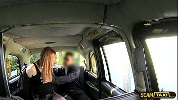 cab driver fucks his red-haired lush.