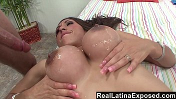reallatinaexposed - alexis breeze hefty breasts sprayed with spunk