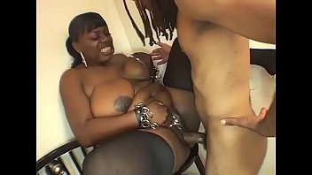 marvelous ebony hefty gal in stocking drilled on.