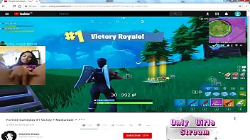 fortnite  Gamer girl  Masturbate Youtube stream