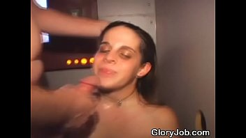 Brunette Amateur Dirtbag Sucking Dick At A Glory Hole