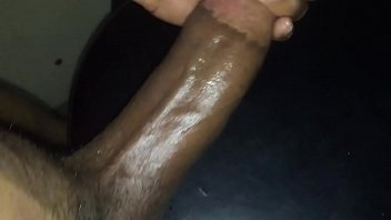 late night ample ebony dinky cum-shot