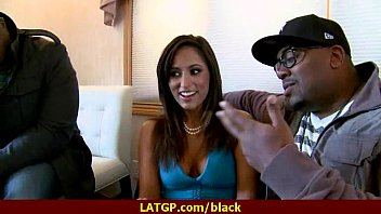 Hot MILF deepthroats gags and gets banged by a black cock 14