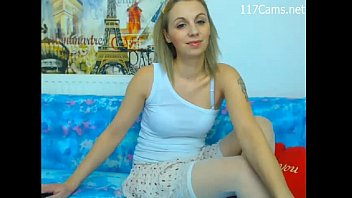 Russian Girl with White Stockings Stripping on Webcam - See more at 117Cams.net