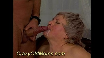 Crazy old mom gets sperm hard