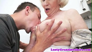 Hairy amateur granny gets doggystyle banged