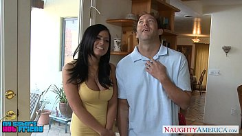 giant-chested dark haired eva angelina romping