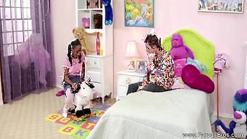 Pigtail Black Teen Fucks White brother