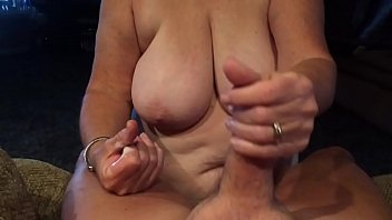 Grandma giving blowjob POV