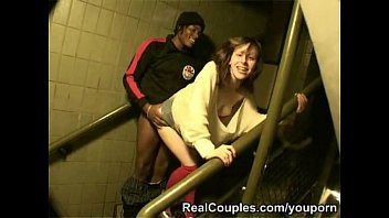 chav damsel is humped outside on council estate.