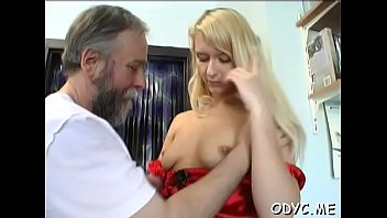 Slim amateur wench gets licked and rides an old dick wildly