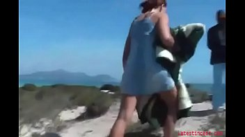 Slut sister fucks bro on the beach- Family thing