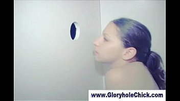 gloryhole inexperienced cockslut gets beefstick