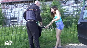 nubile woman picked up and pummeled outdoor and.