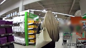 exquisite czech chick gets tempted in the hypermarket.