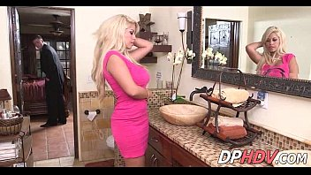 hotwife cougar silver-blonde plumbed in shower.
