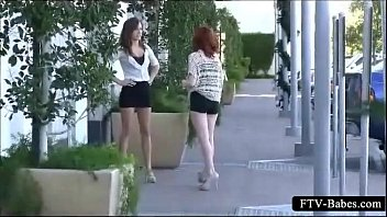 thrilled teenage girl-girl paramours making out.