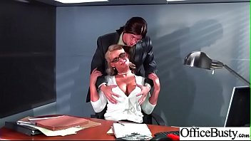 hard-core fuck-a-thon in office with large tits dame.